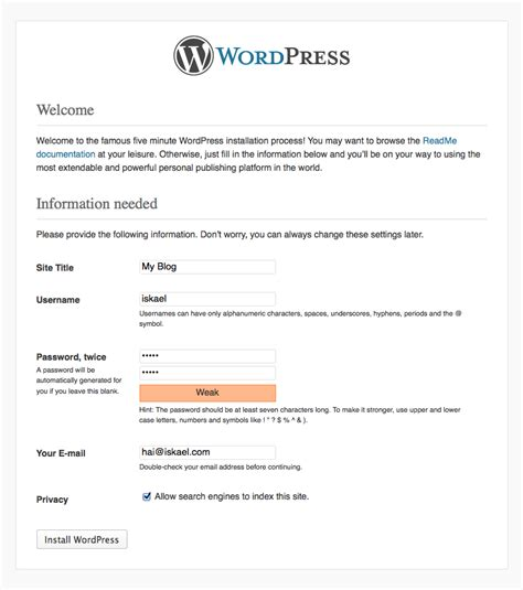 cara membuat blog wordpress di localhost cara membuat blog wordpress offline artikel