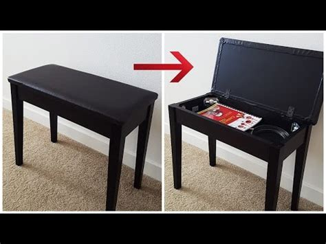 piano bench diy diy how to build a storage in a piano bench youtube