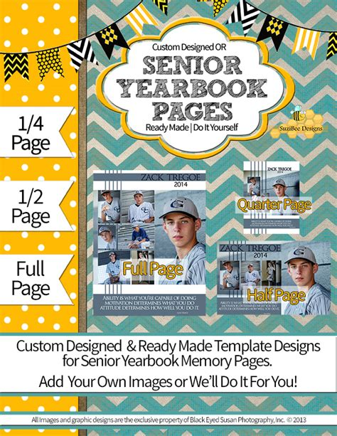 yearbook page template suzibee designs senior yearbook pages graduation cards