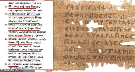 proof jesus was married found on ancient papyrus that manuscript claims jesus married could be authentic daily