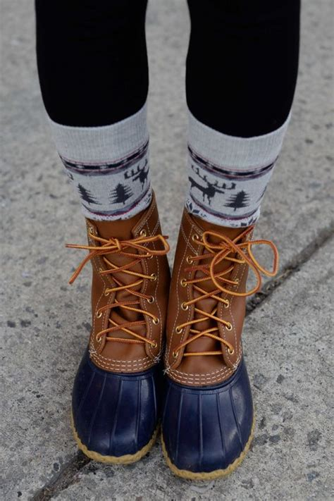 bean boots beans and sock on