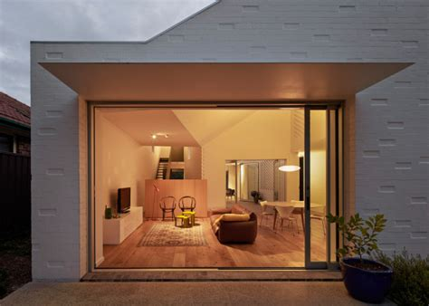 A Courtyard House On A Suburban Block In Sydney Design Milk Disappearing Glass Doors