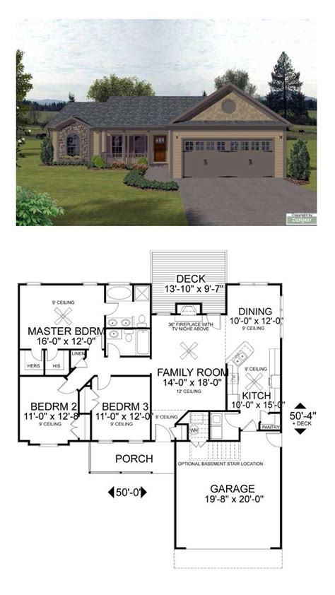 17 Best Images About Ranch House Plans On Pinterest Cool House Plans Ranch