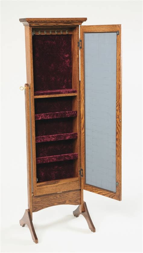 standing jewelry armoire diy standing mirror jewelry armoire home design ideas