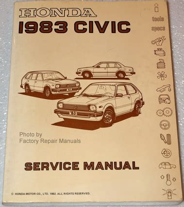 honda factory service repair manuals 1983 honda civic factory service manual original shop repair factory repair manuals