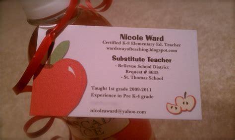 substitute teacher business cards best 25 teacher business cards
