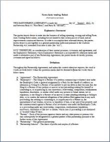 partnering agreement template partnership agreement format word documents templates