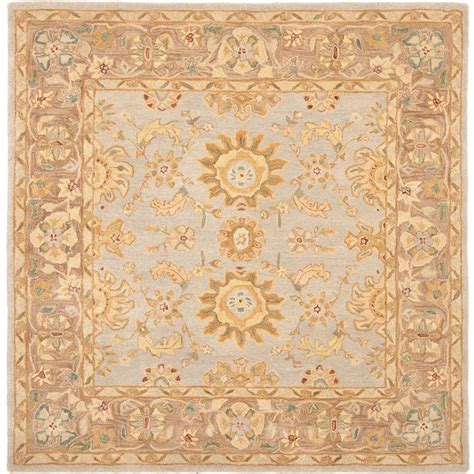 Safavieh Anatolia Teal Brown 6 Ft X 6 Ft Square Area Rug 6 X 6 Area Rugs