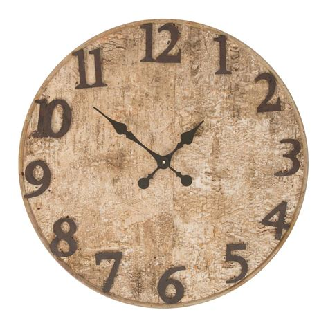 wooden wall clock buy seymour birch bark wooden wall clock online purely