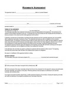 Roommate Contract Sle by Free Connecticut Roommate Room Rental Agreement Form Word Pdf Eforms Free Fillable Forms