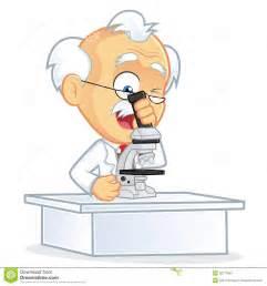 Mit Freundlichen Grüßen Professor Professor Using Ein Mikroskop Stockfotos Bild 36777853