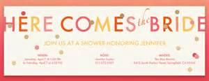 bridal shower evite