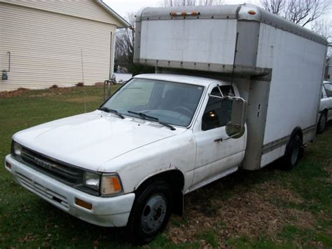 1989 toyota box truck 1 ton dually for sale in