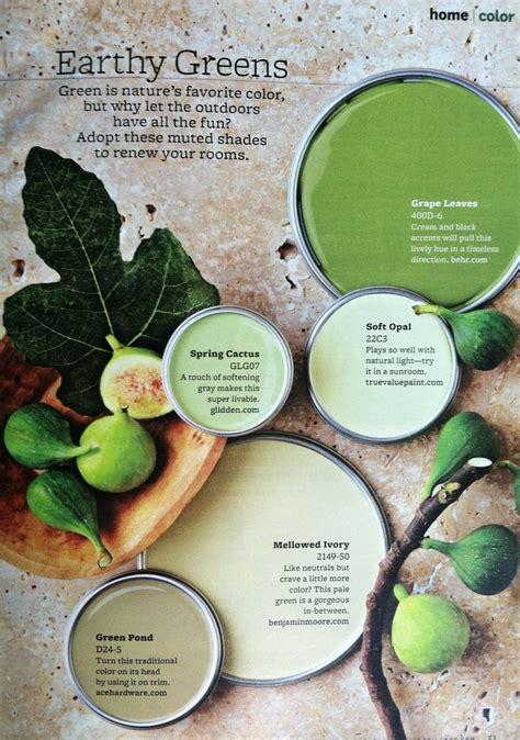 bhg earthy greens c o l o u r green opals and green palette