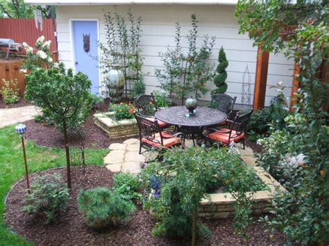 Patio Ideas For Small Backyards Small Backyard Ideas Casual Cottage