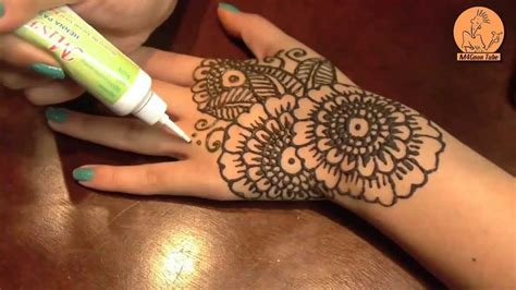 احدث طريقة رسم حناء على اليد بالشكل الهندى youtube