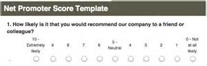 net promoter score survey template define business benchmarks the smartest way to measure