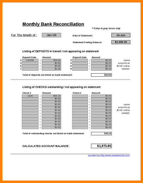 Reconciling An Account Worksheet by 28 Reconciling An Account Worksheet Balance Sheet