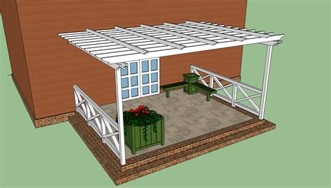 Plans For Pergola Attached To House How To Build A Pergola Attached To The House Howtospecialist How To Build Step By Step Diy