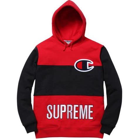 Jaket Hoodie Supreme X Chion Color Blocked supreme chion 174 color blocked pullover supreme collection color blocking
