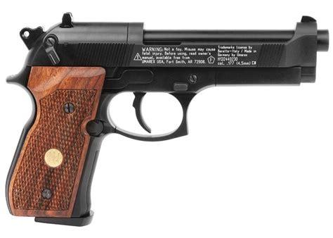 beretta 92fs wood grips beretta air pistol m92fs black w wood grips 177 cal