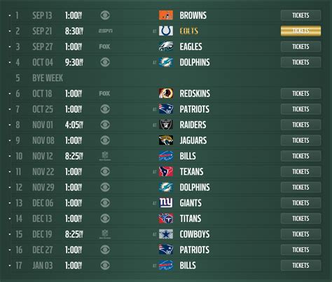 printable ny jets schedule 2015 new york jets 2015 schedule released dates and times