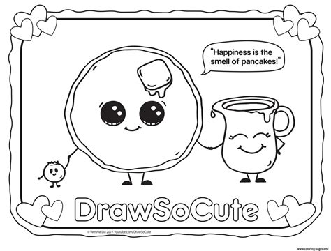 drawsocute waterfall card template pancake draw so coloring pages printable