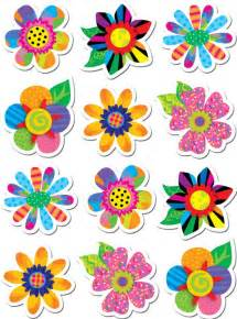 poppin patterns spring flowers stickers ctp4114