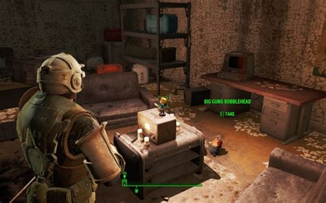 bobblehead in vault 95 big guns bobblehead vault 95 the commonwealth map