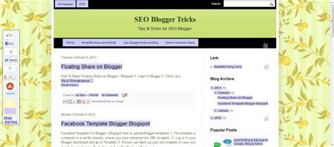 template blog seo friendly blogspot seo blogger tricks