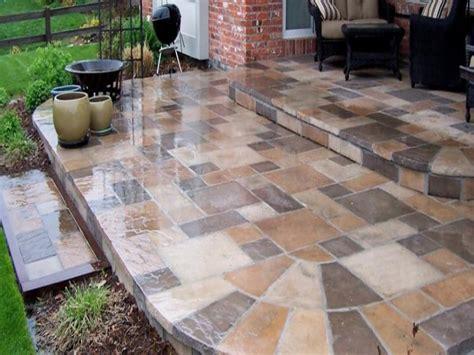 Large Stone Pavers Paver Stones Over Concrete Slab Laying Laying Pavers Concrete Patio