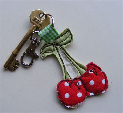 Handmade Keyring - handmade fabric key rings by katy kirkham designs
