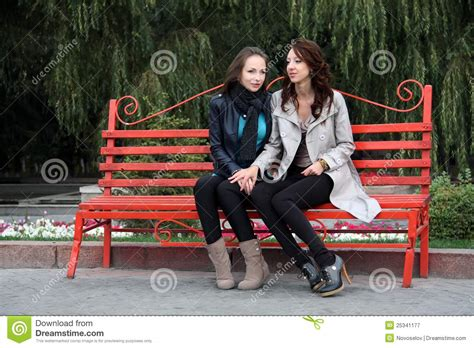 girls  park stock image image  leisure casual