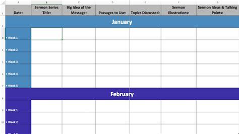 Ministry Calendar Template