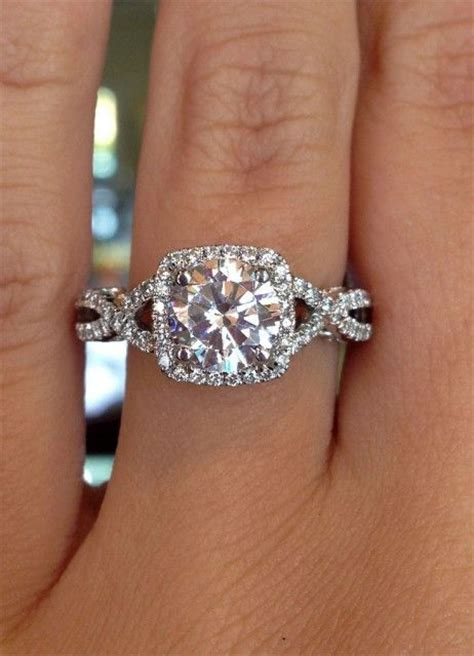 17 best ideas about square engagement rings on