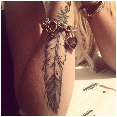 tattoo feather on arm 40 amazing feather tattoos you need on your body