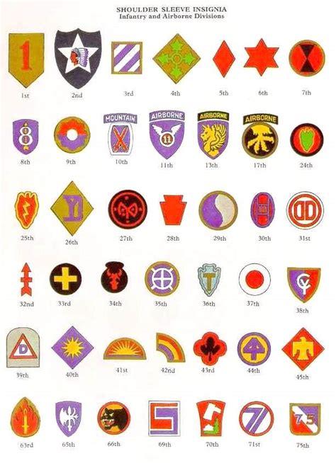 us military sections les insignes de division us militaria