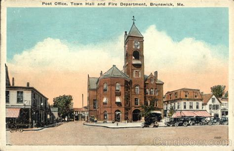 Brunswick Town Office by Post Office Town And Department Brunswick Me