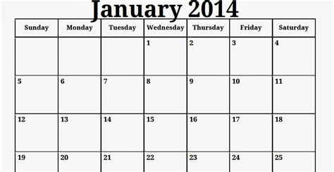 january 2014 calendar template free printable calendar free printable calendar january