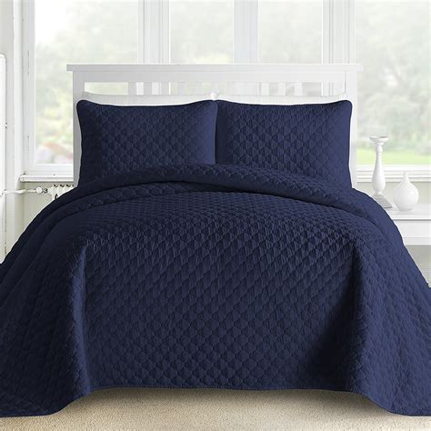 navy blue quilted coverlet royal blue and navy bedding sets ease bedding with style