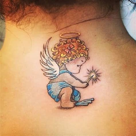 angel tattoo traditional 51 best baby angel tattoos design and ideas