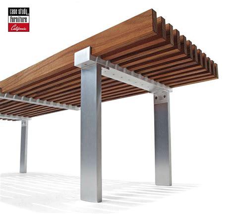 black wooden bench outdoor component metal legs wood slat top consider black steel