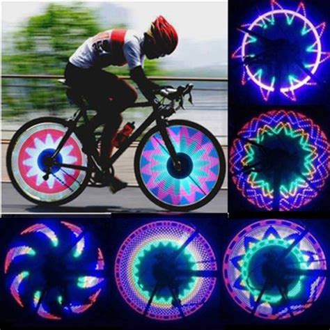 lights on wheels of a bicycle new arrival colorful bicycle lights bike cycling wheel