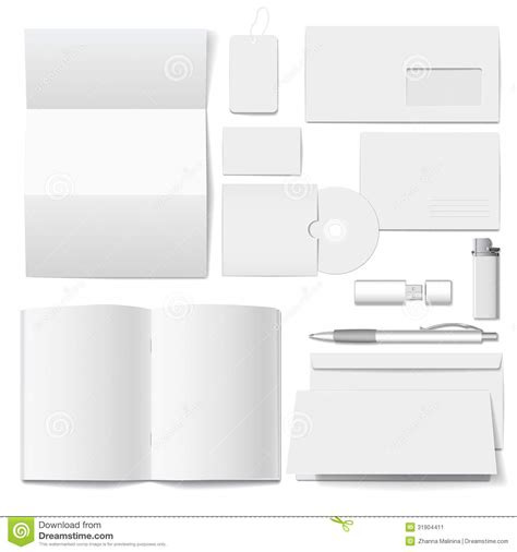 vector corporate identity template stock vector image