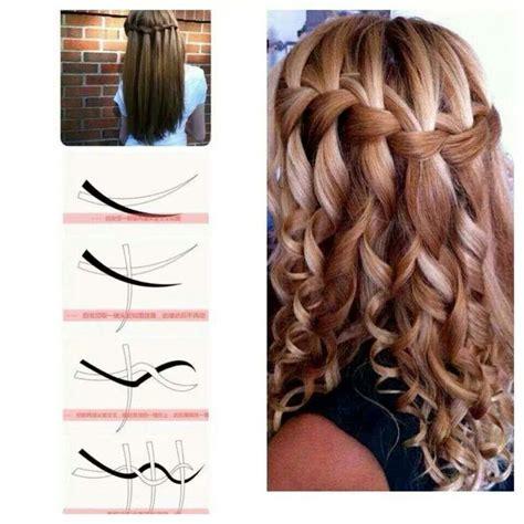 how to do a waterfall braid step by step on shprt hair cute teen dance hairdo idea life pinterest beauty