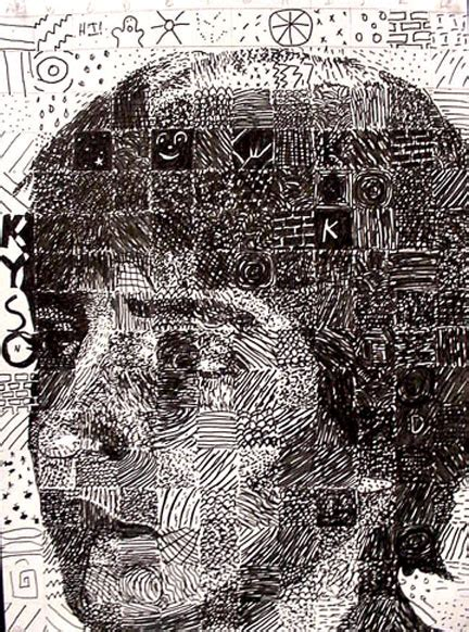 define pattern drawing art lessons chuck close grid drawings