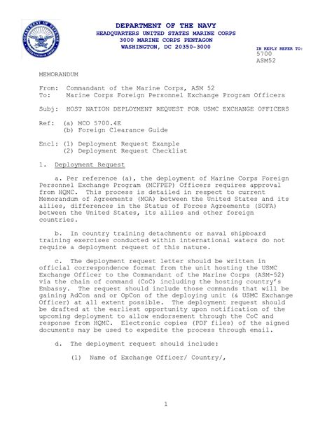 Official Navy Letter Template Standard Naval Letter Format Best Template Collection