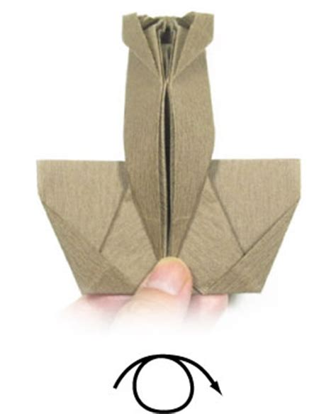 Origami Sitting - how to make a sitting origami page 9