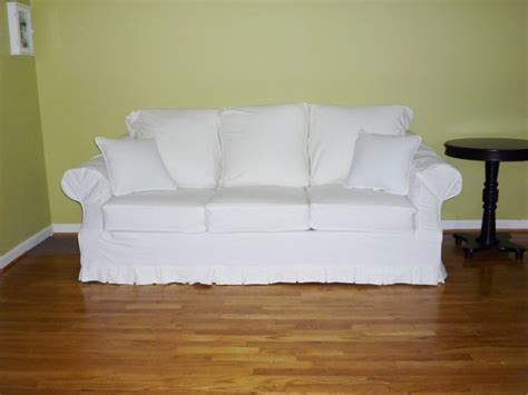 white denim sofa slipcover