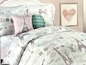 Gray Queen Comforter Eiffel Tower Bedding
